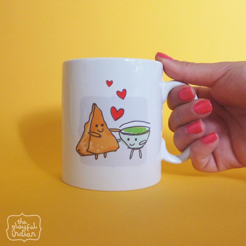 chutney samosa mug
